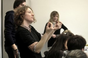 Expertenseminar mit Gastdozentin des ZIM-BB: Inga Alice Lauenroth, Absolventin der renommierten OSTKREUZ Schule für Fotografie, arbeitet an Langzeitporträts und sozial relevanten Bildreportagen