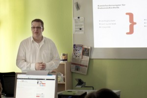 Carsten J. Pinnow beim Workshop Online-Marketing und Datensicherheit des ZIM-BB in Berlin